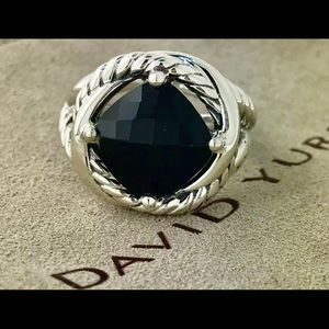 David Yurman Black Onyx 11mm Infinity Ring